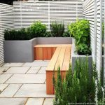 Small courtyard garden with seating area design and layout 12
